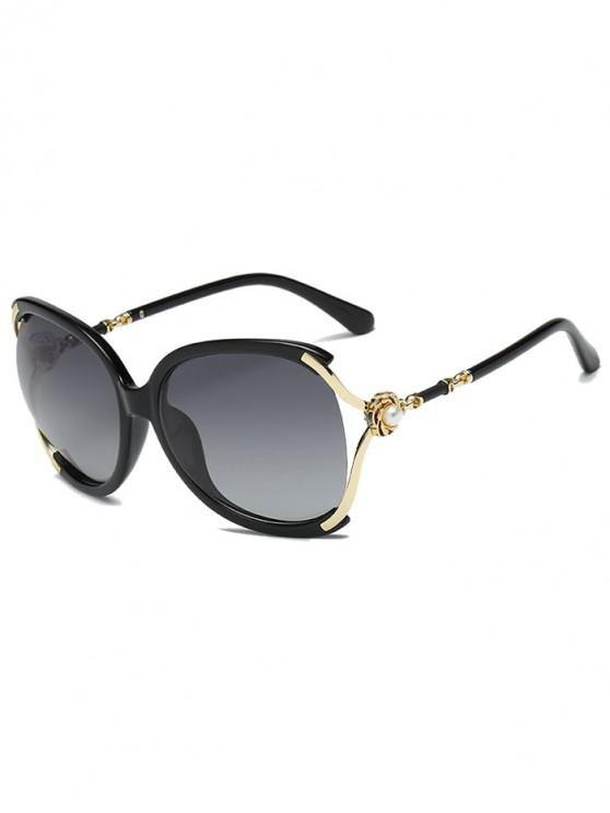 shop Oversize European Style Decorative Sunglasses - BLACK