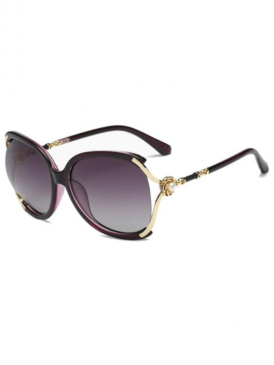 shops Oversize European Style Decorative Sunglasses - PURPLE