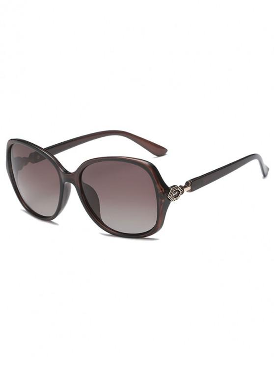 latest Butterfly Shape Simple Style Polarized Sunglasses - BROWN