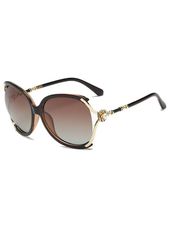 sale Oversize European Style Decorative Sunglasses - BROWN