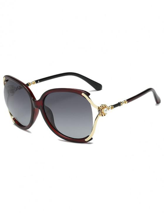 affordable Oversize European Style Decorative Sunglasses - RED
