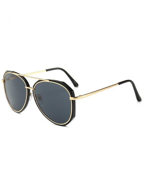 unique Metal Bar Outdoor Pilot Sunglasses - BLACK