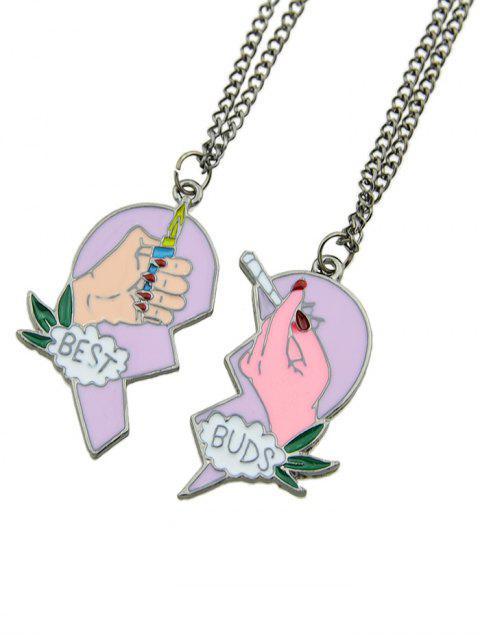 Set de Collar de Amistad en Forma de Corazón de 2 Piezas - Multicolor  Mobile