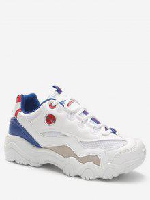 الدانتيل متابعة تصميم الاحذية أحذية رياضية - أزرق الاتحاد الأوروبي 40