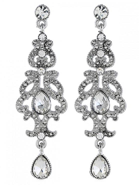 shop Rhinestone Wedding Chandelier Earrings - SILVER