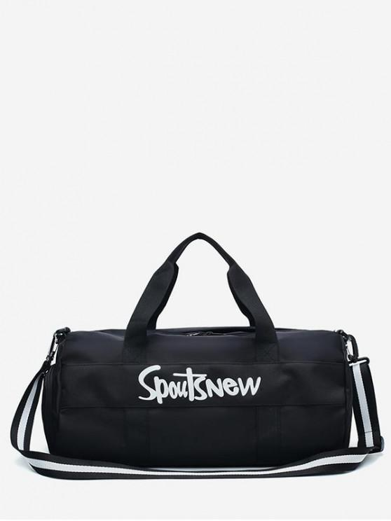 latest Nylon Character Pattern Sports Bag - BLACK
