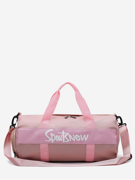 fashion Nylon Character Pattern Sports Bag - PINK