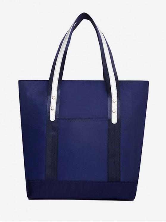 sale Solid Nylon Bucket Shoulder Bag - BLUE