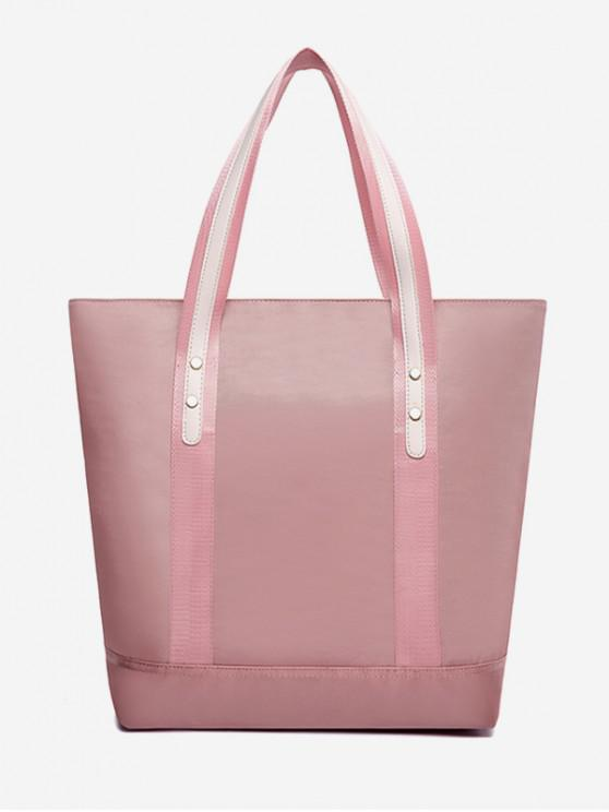 buy Solid Nylon Bucket Shoulder Bag - PINK