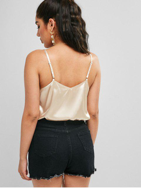 ZAFUL Verdrehte Satin Camisole - Champagner L Mobile