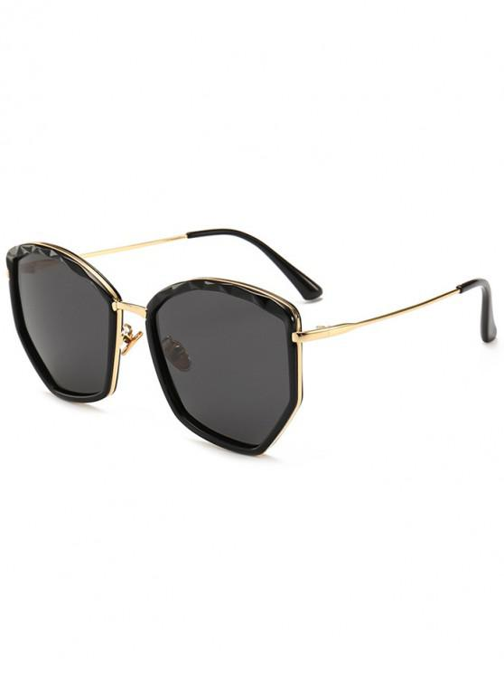 online Oversized Irregular Vintage Sunglasses - BLACK