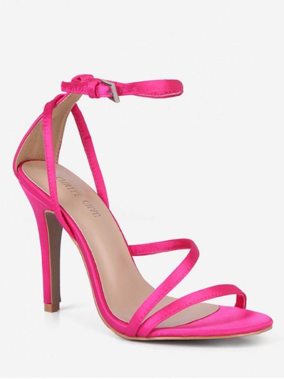 10% OFF  2019 Ankle Strap Cut High Heel Sandals In PINK EU 42