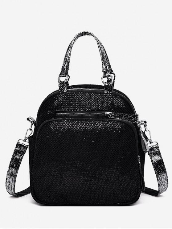 outfits Waterproof Pockets Design Soft Backpack - BLACK
