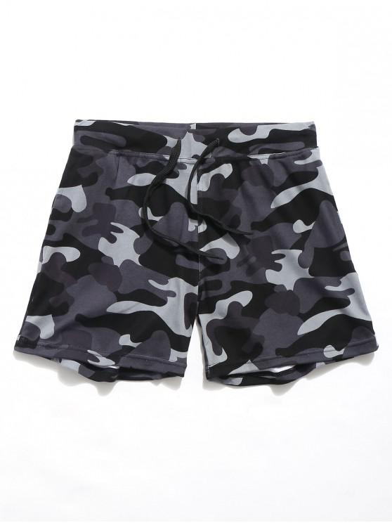 hot Camouflage Printed Elastic Casual Shorts - ACU CAMOUFLAGE XL