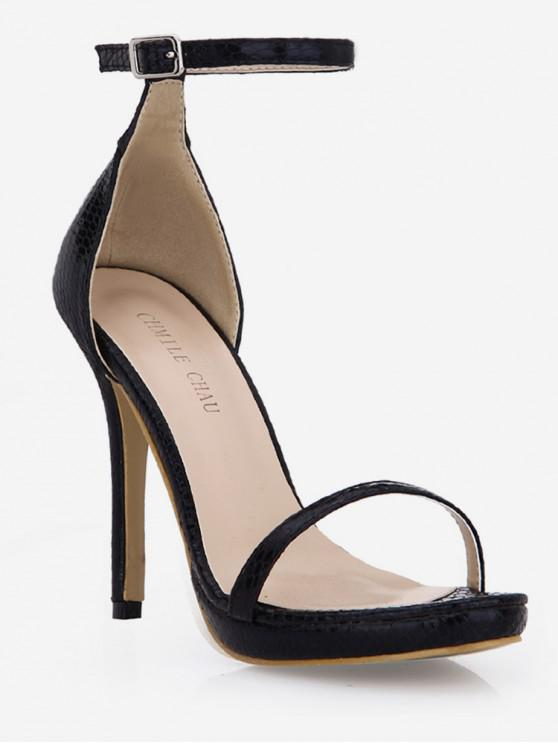 best Snake Super High Heel Sandals - BLACK EU 39