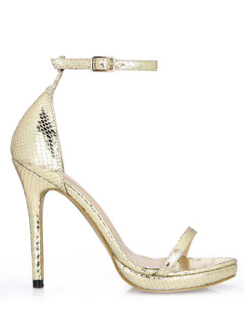women's Snake Super High Heel Sandals - GOLD EU 41 Mobile