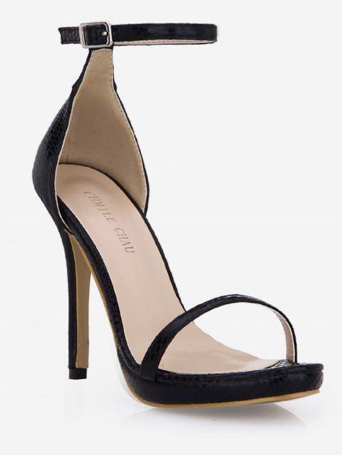 sale Snake Super High Heel Sandals - BLACK EU 35 Mobile