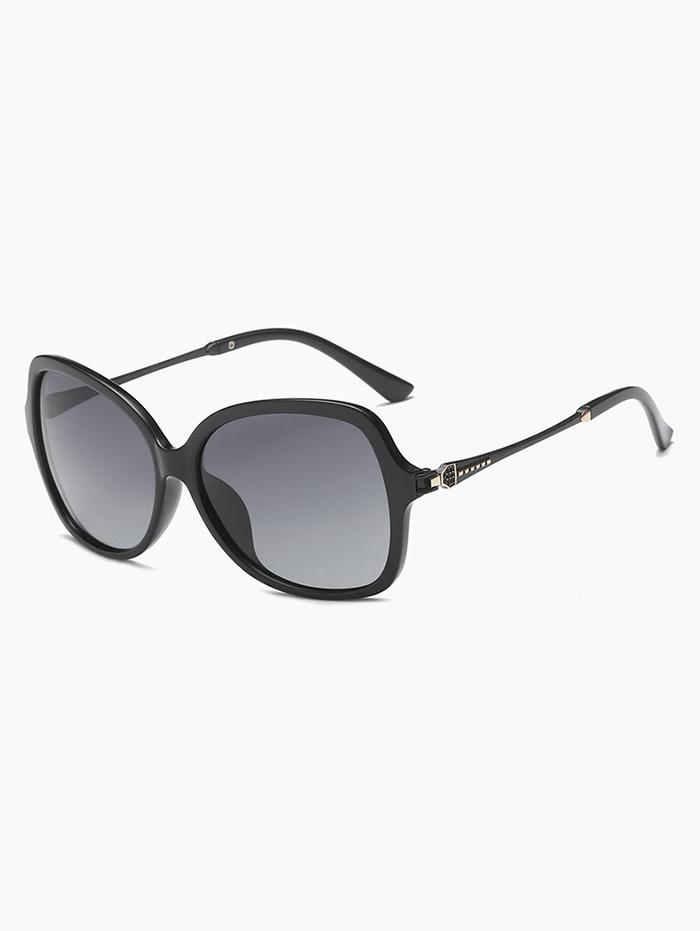Retro Driver Polarized Sunglasses, Black