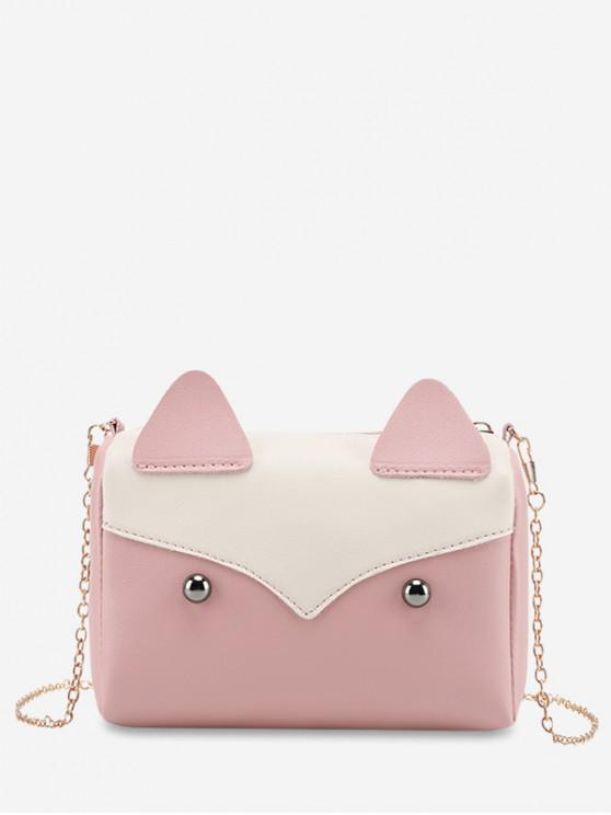 hot Cute Shape Fox Shape Mini Crossbody Bag - PIG PINK