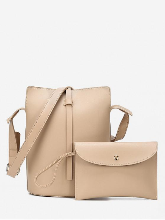 sale Chic Solid Color Crossbody Bags Set - BLANCHED ALMOND