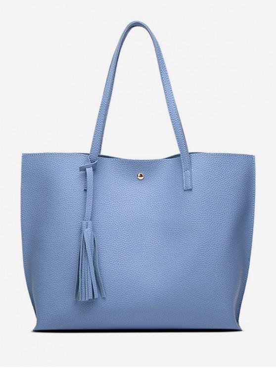 online Tassel Decoration Shoulder Bag - CRYSTAL BLUE