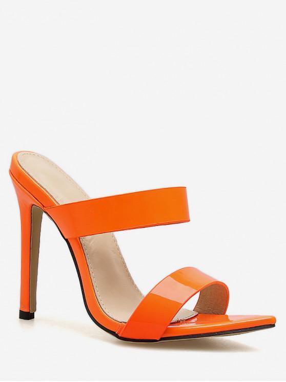 best Double Strap Super High Heel Slides - ORANGE EU 40