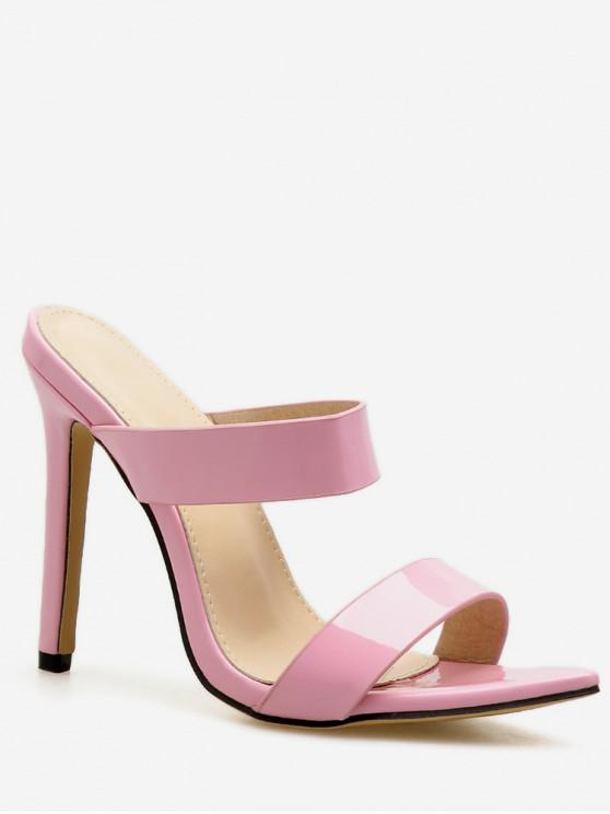 affordable Double Strap Super High Heel Slides - PINK EU 36
