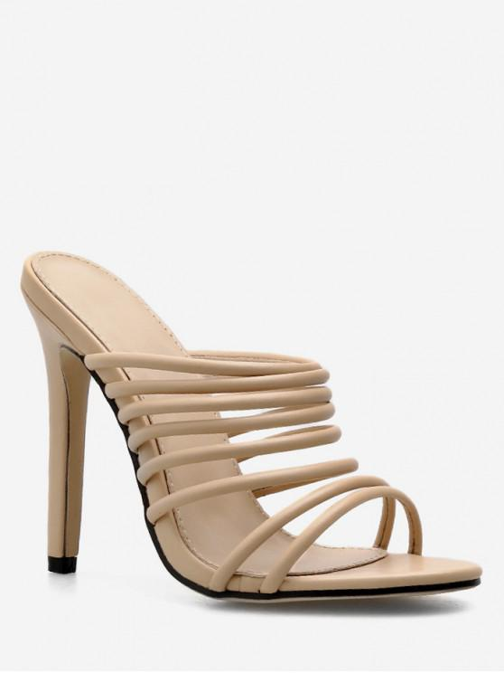 online Strappy Gladiator Super High Heel Slides - APRICOT EU 40