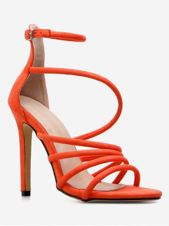 outfit Strappy Super High Heel Sandals - ORANGE EU 37