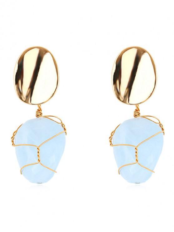 latest Alloy Warp Geometric Drop Earrings - DAY SKY BLUE