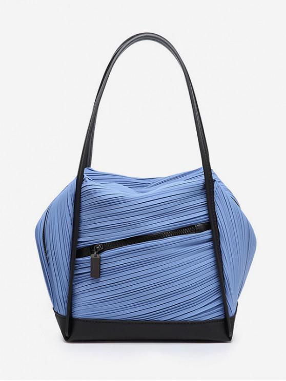 sale Plicated Design Big Capacity Handbag - BLUE IVY