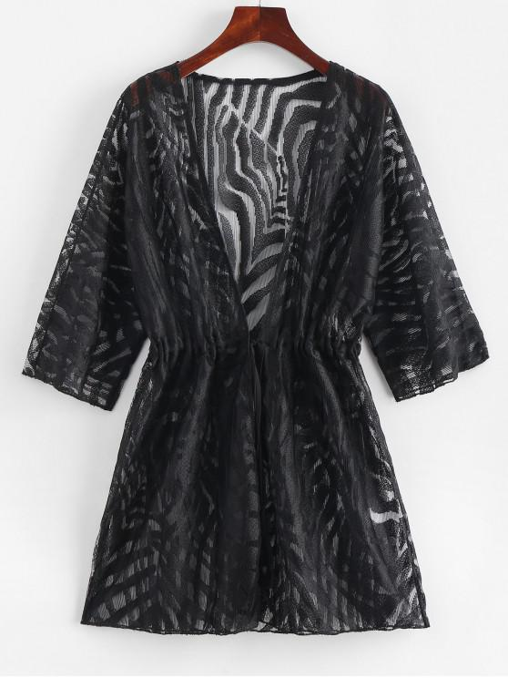 outfit Waist Drawstring Cover-up - BLACK S