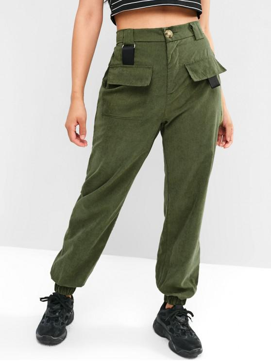 sale Belt Embellished Pocket Jogger Pants - ARMY GREEN M