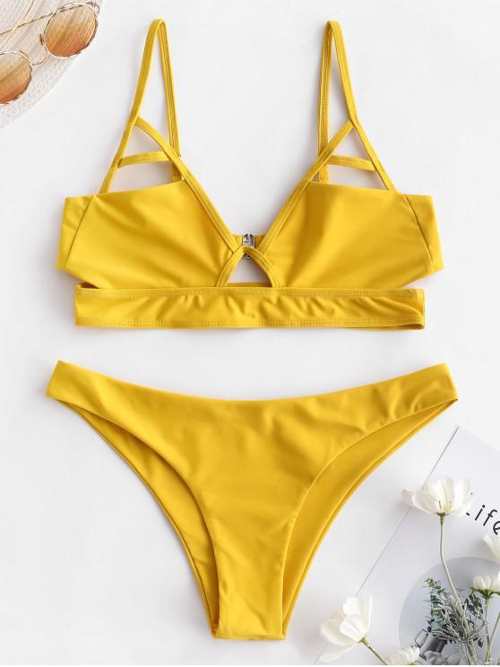 ZAFUL Bralette -Bikini -Set mit Ausschnitt - Biene Gelb S