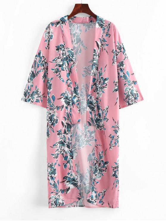 Blumen- Kimono - Rosa M