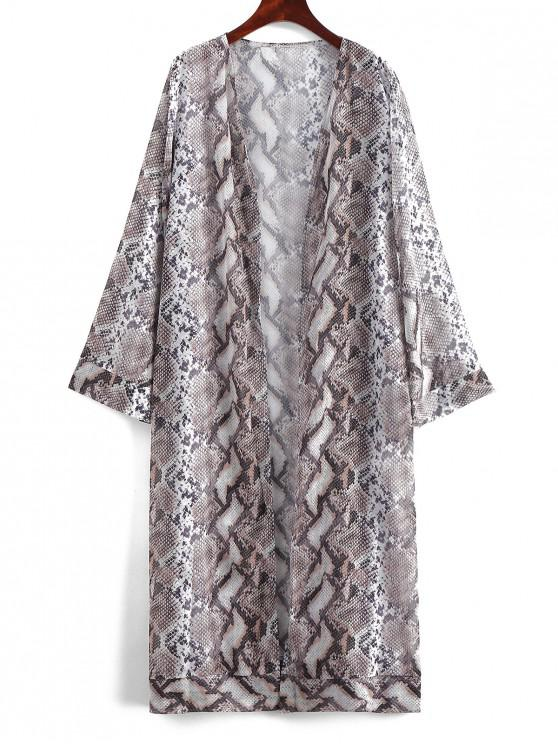 hot Snake Print Cover-up - MULTI-A L