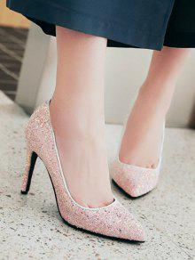 fb4991326d8e 41% OFF] 2019 Glitter Pointed Toe Pumps In LIGHT PINK | ZAFUL