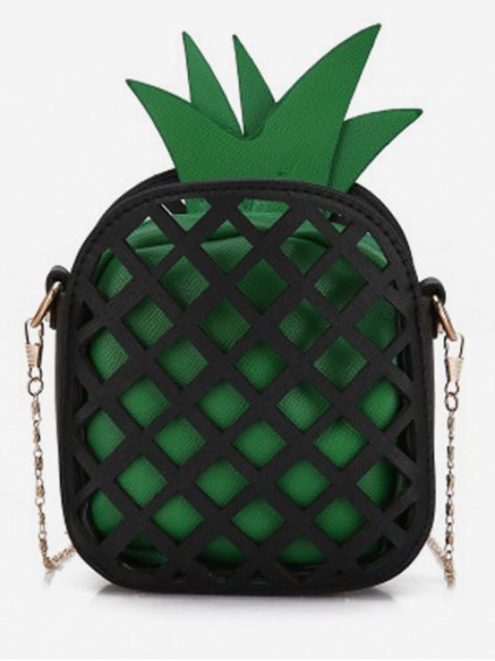 fancy Crossbody Chain Pineapple Shape Shoulder Bag - MEDIUM SPRING GREEN