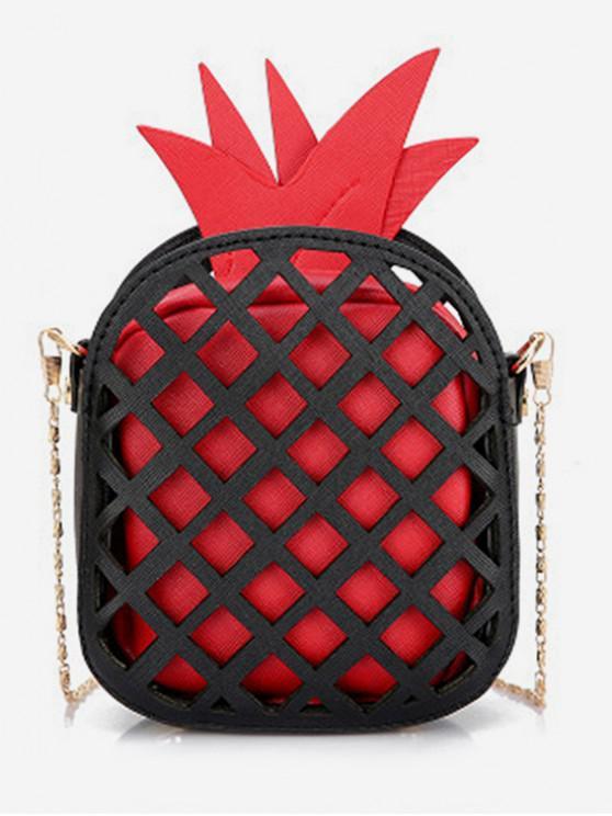 online Crossbody Chain Pineapple Shape Shoulder Bag - RED