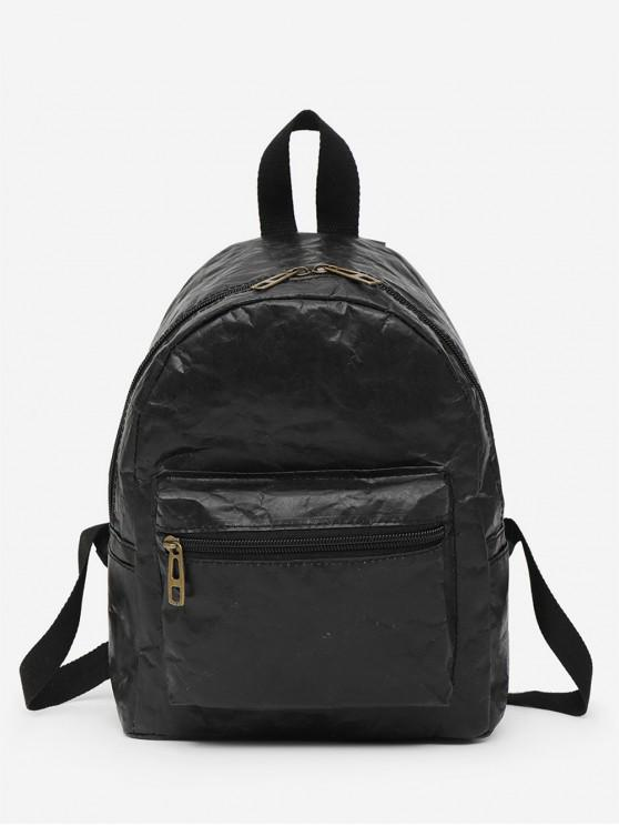lady Foldable Waterproof Paper Tourism Backpack - BLACK