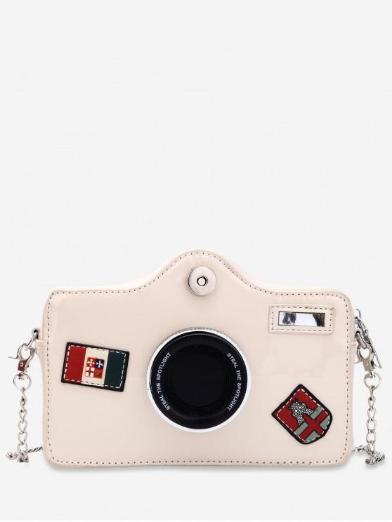 fashion Stylish Camera Shape Crossbody Shoulder Bag - WHITE