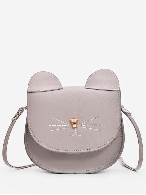 affordable Mini Cat Pattern Cash Shoulder Bag - DARK GRAY