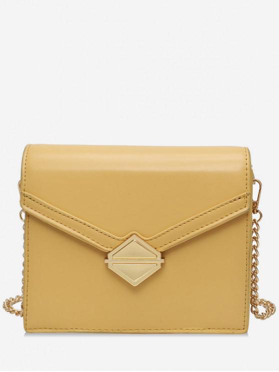 best Solid Color Design Crossbody Bag - YELLOW