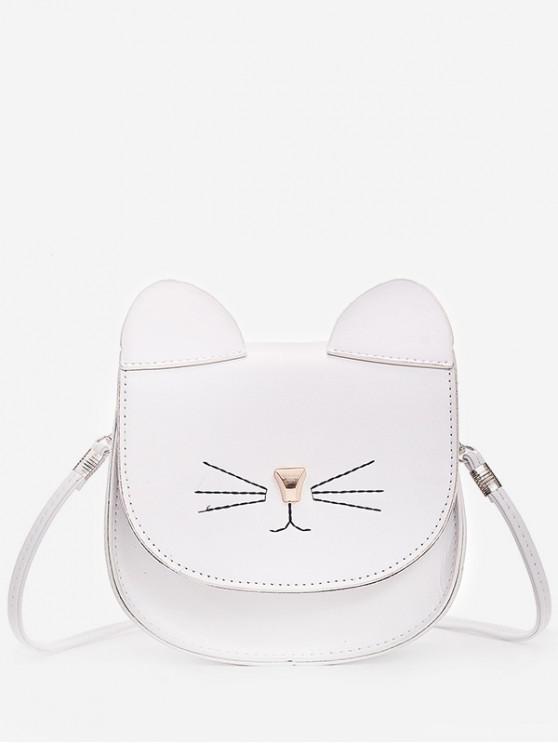 outfit Mini Cat Pattern Cash Shoulder Bag - WHITE
