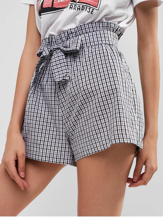 shops Belt Gingham Shorts - MULTI-A L