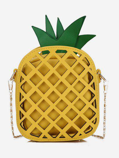 91af7676f0e0 Crossbody Chain Pineapple Shape Shoulder Bag - Sun Yellow ...