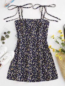 99f40bc678f Tiny Floral Tie Strap Sundress