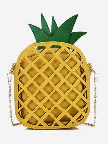 حقيبة الكتف سلسلة الأناناس شكل سلسلة - صن اصفر