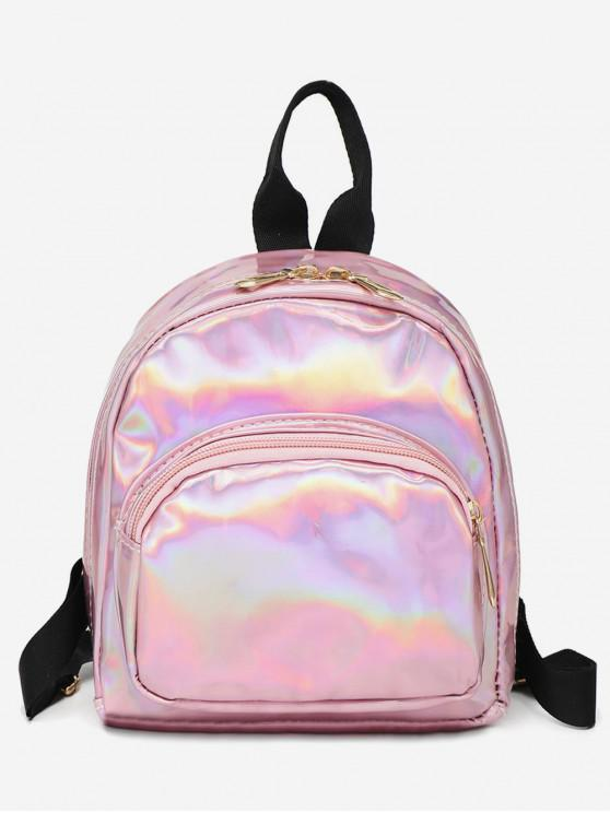 sale Mini Glossy Casual Soft Backpack - PINK