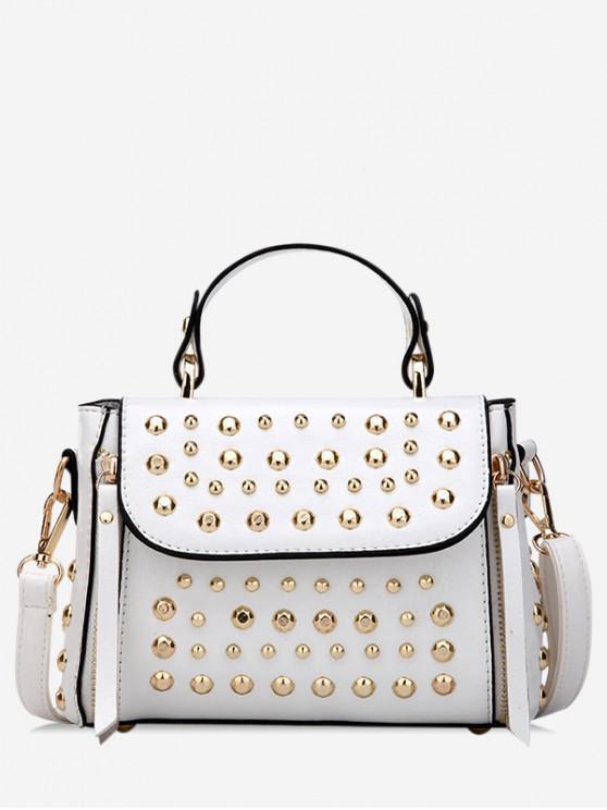 affordable Punk Style Rivet Design Shoulder Bag - WHITE